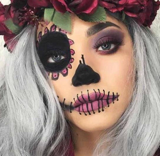 Макияж на Хэллоуин 2019 - фото