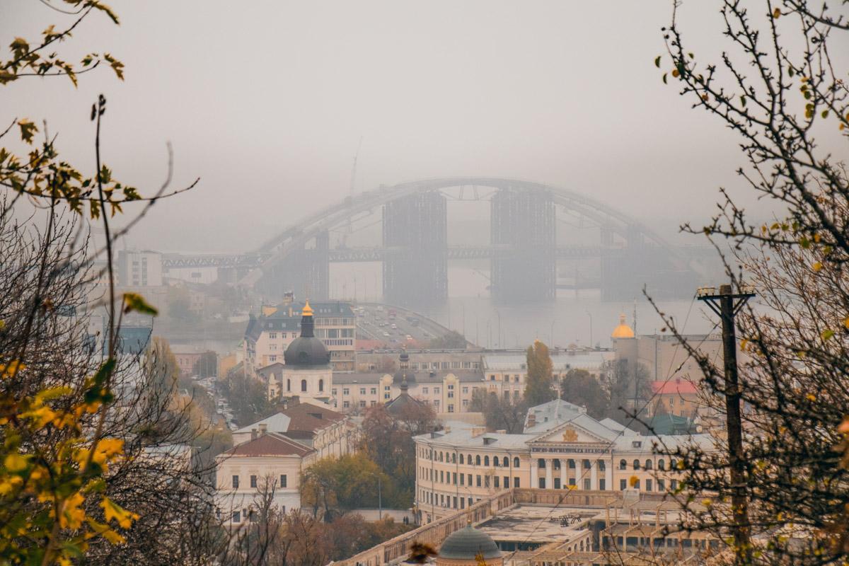 погода, осень, туман, Киев