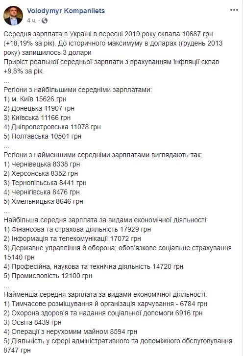 Зарплата в Украине 2019 близка к рекорду: в чем подвох