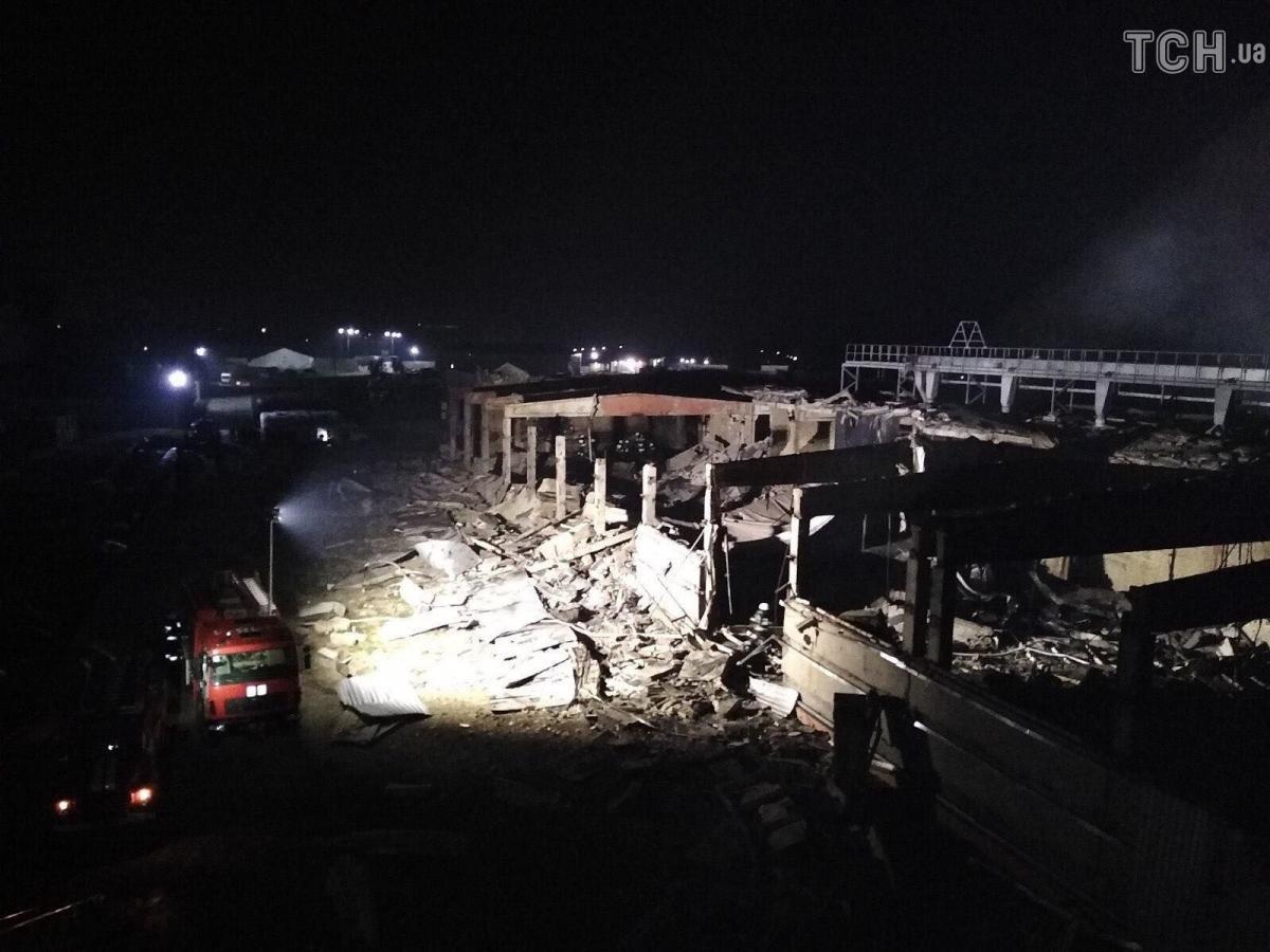 Взрыв на заводе в Днепре