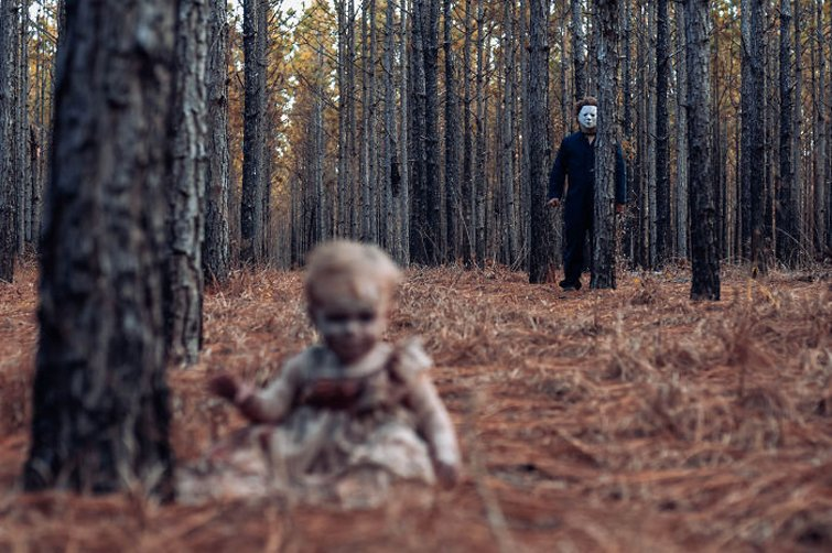 Фотосессия зомби на Хэллоуин