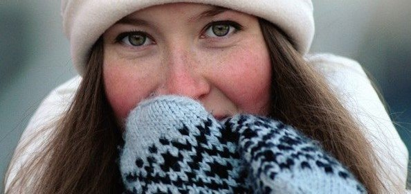 девушка, мороз
