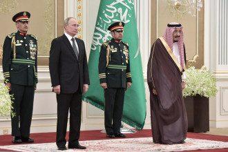 Владимир Путин и Салман ибн Абдул-Азиз Аль Сауд послушали исковерканный гимн России