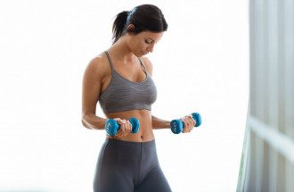 спорт, тренировка, женщина