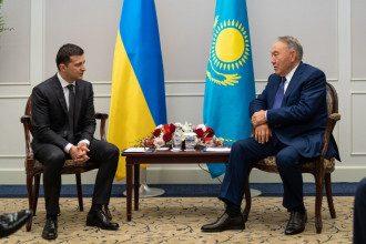 Владимир Зеленский и Нурсултан Назарбаев