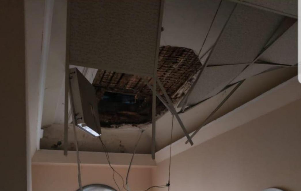 Обвал потолка в полиции в Одессе