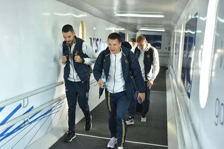Сборная Украины прибыла в Белград на матч с Сербией