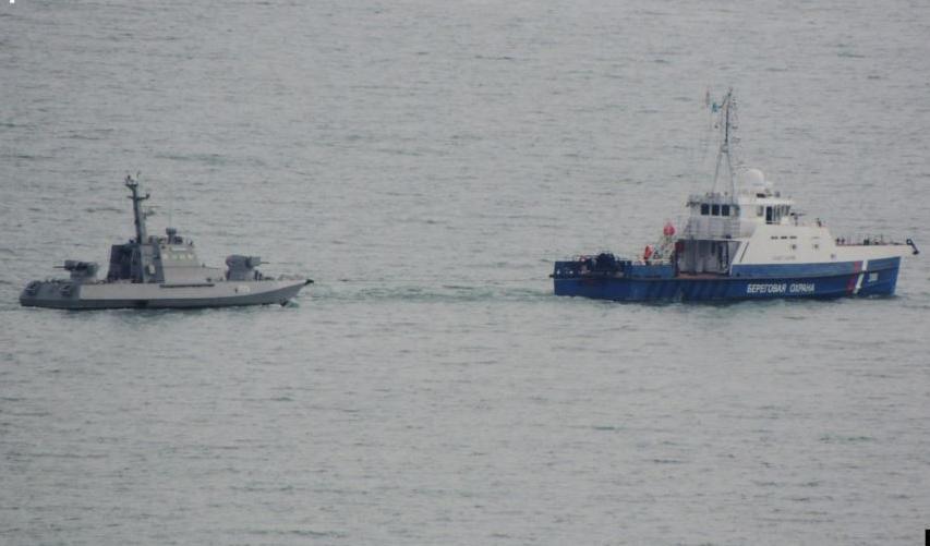 Захваченные украинские корабли