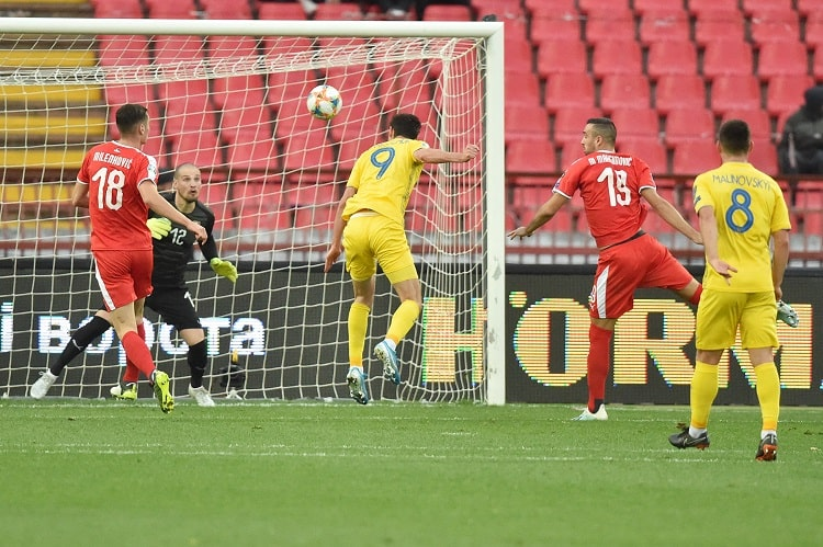 Яремчук поразил ворота сборной Сербии