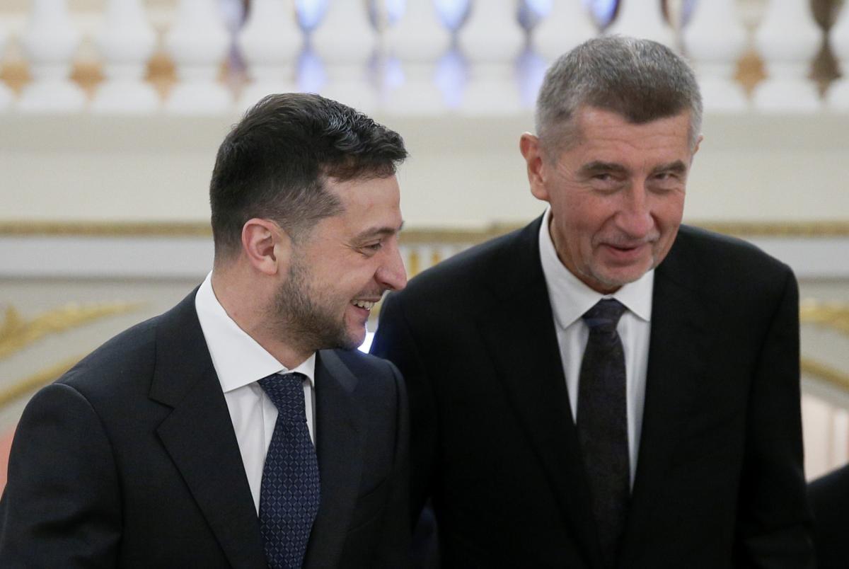 Владимир Зеленский и Андрей Бабиш в Киеве дали совместную пресс-конференцию