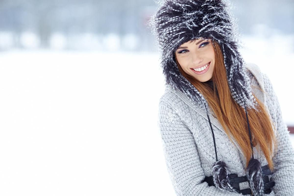 зима_снег_девушка_природа