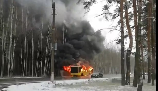 ДТП, пожар, автобус