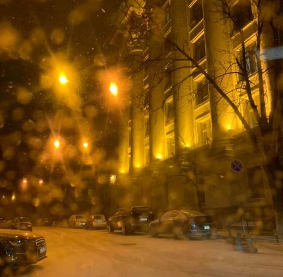Сегодня Киев присыпал первый снег - Новости Киева