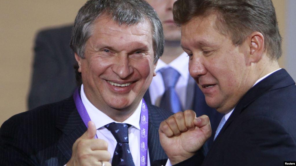 Игорь Сечин и Алексей Миллер, главы Роснефти и Газпрома