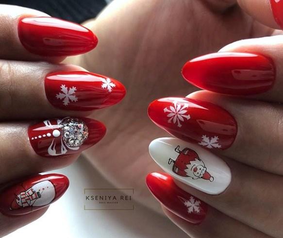 Яркий маникюр зима 2021: самый красивый красный новогодний маникюр 2021- фото - Новости моды
