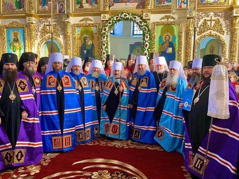 Каллиник Чернышев с архиереями УПЦ МП