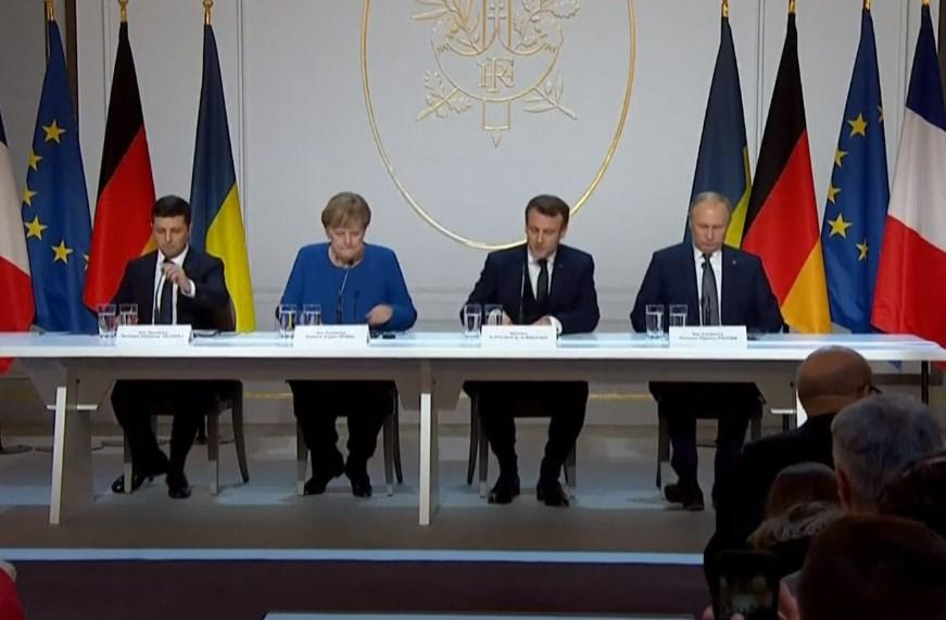 Зеленский Меркель Макрон Путин