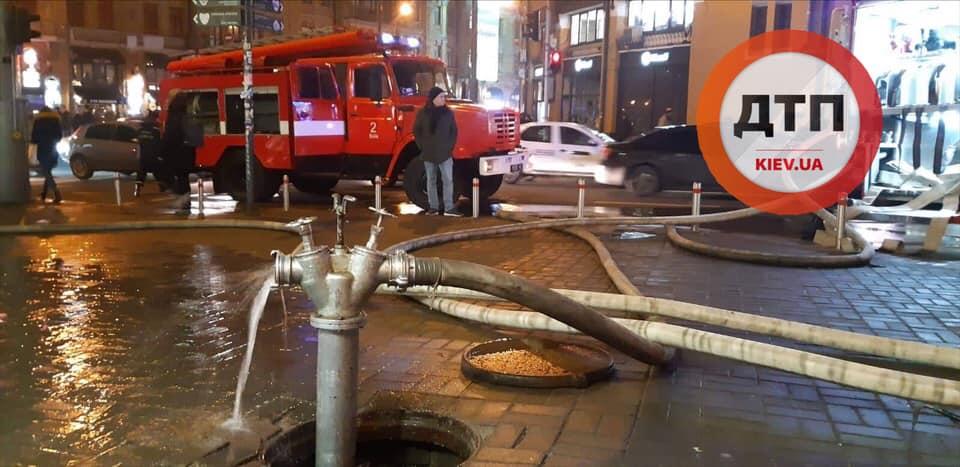 В центре Киева горел ресторан