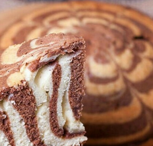 Торт Зебра абсолютно не проблема испечь в мультиварке
