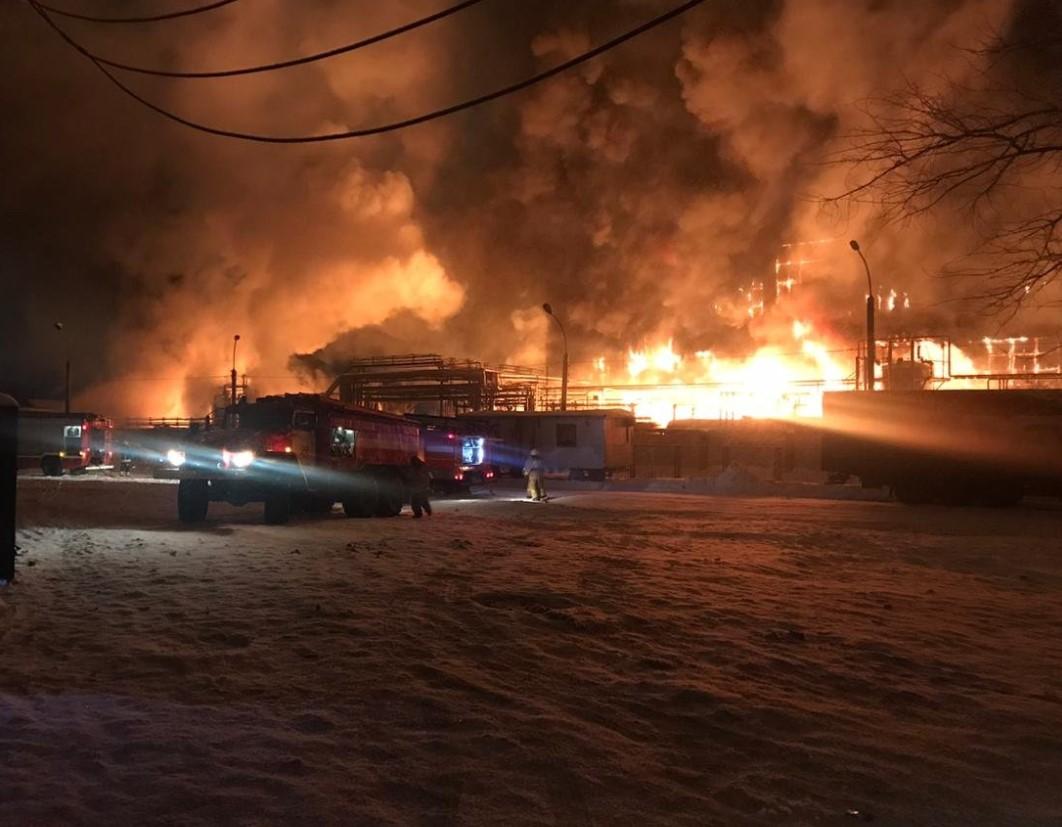 Пожар на Нефтехиме в Уфе