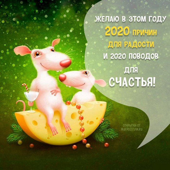 открытки с новым годом крысы