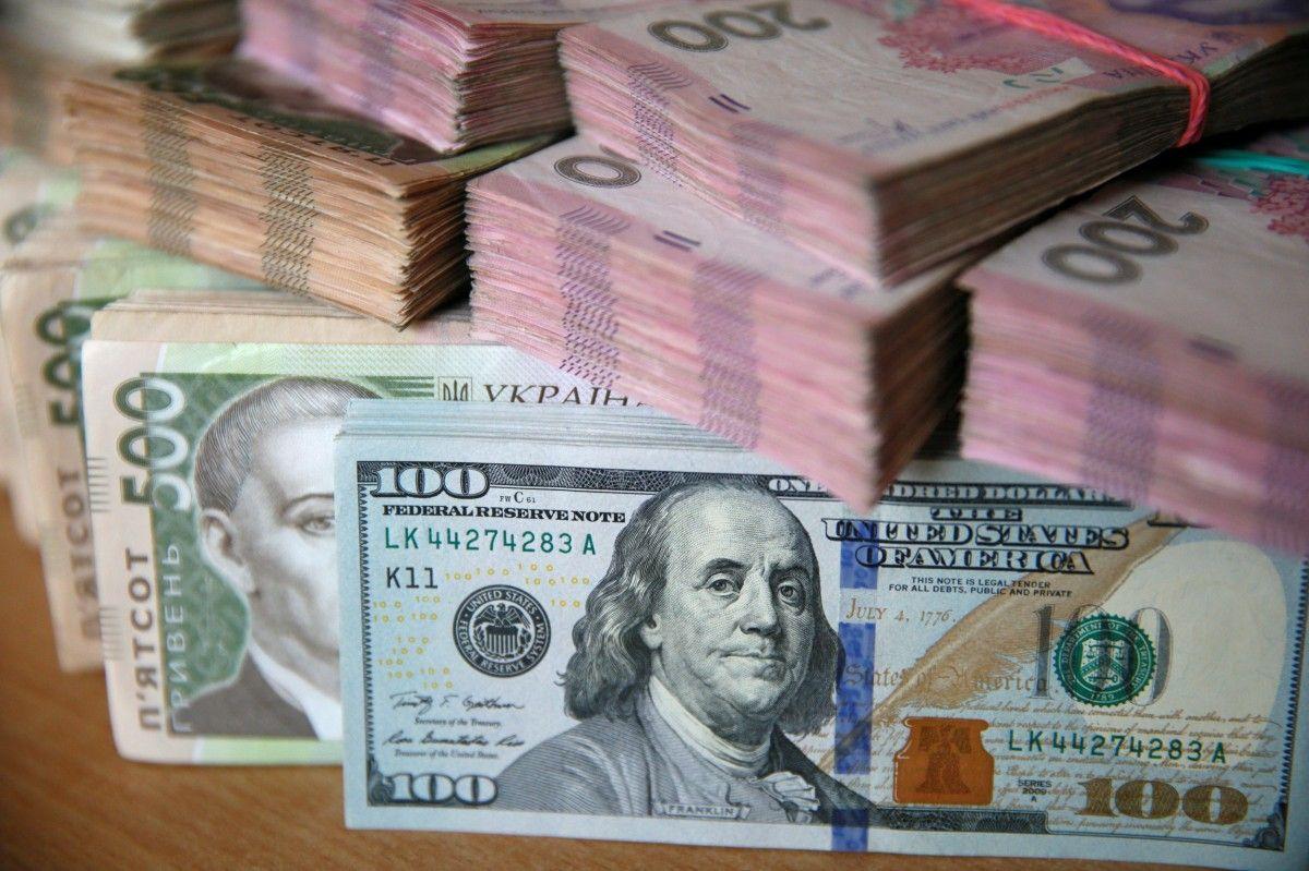 Долар, гривні