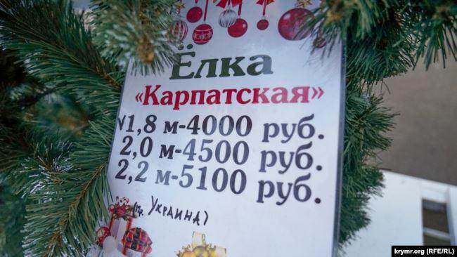 Ели из Прикарпатья продают в Симферополе