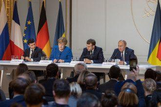 Париж, Зеленский, Путин, Макрон, Меркель