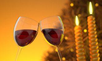 вино, алкоголь, новый год