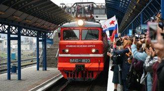 Поезд из Севастополя отправился в Россию / скриншот