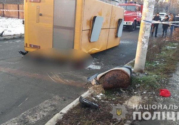 В Буче в ДТП попала маршрутка, погибли два пассажира