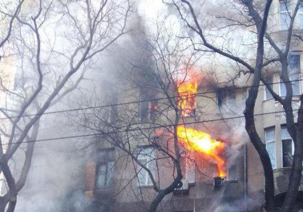 В результате пожара в колледже Одессы госпитализирован 21 человек - Пожар Одесса сегодня