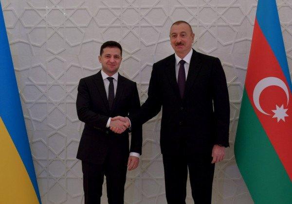 Владимир Зеленский и Ильхам Алиев