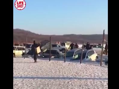 Зимняя рыбалка во Владивостоке закончилась неудачно