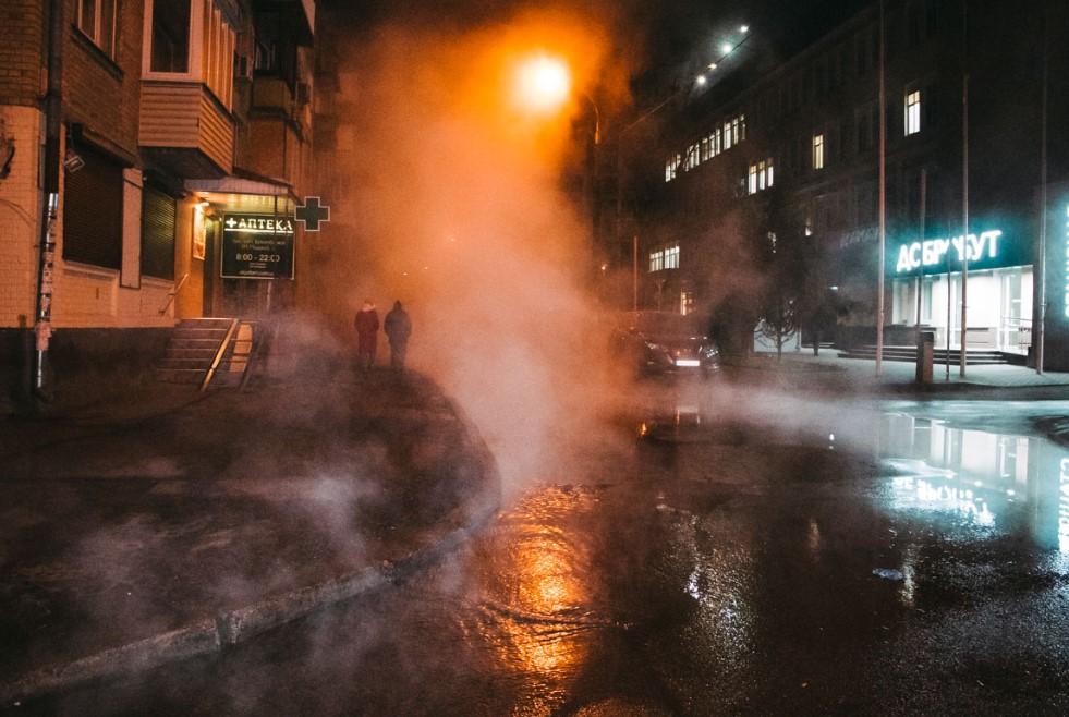 Прорыв теплосети в Киеве
