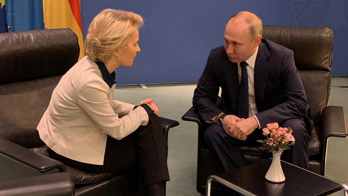 Урсула фон дер Ляйен, Путин