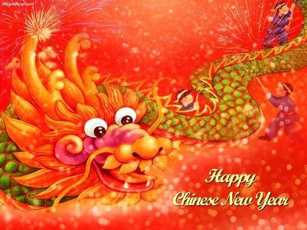 китайский новый год открытки