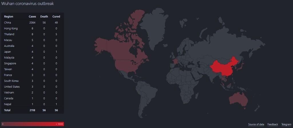 Как смертельный коронавирус распространяется по миру / coronavirus.zone
