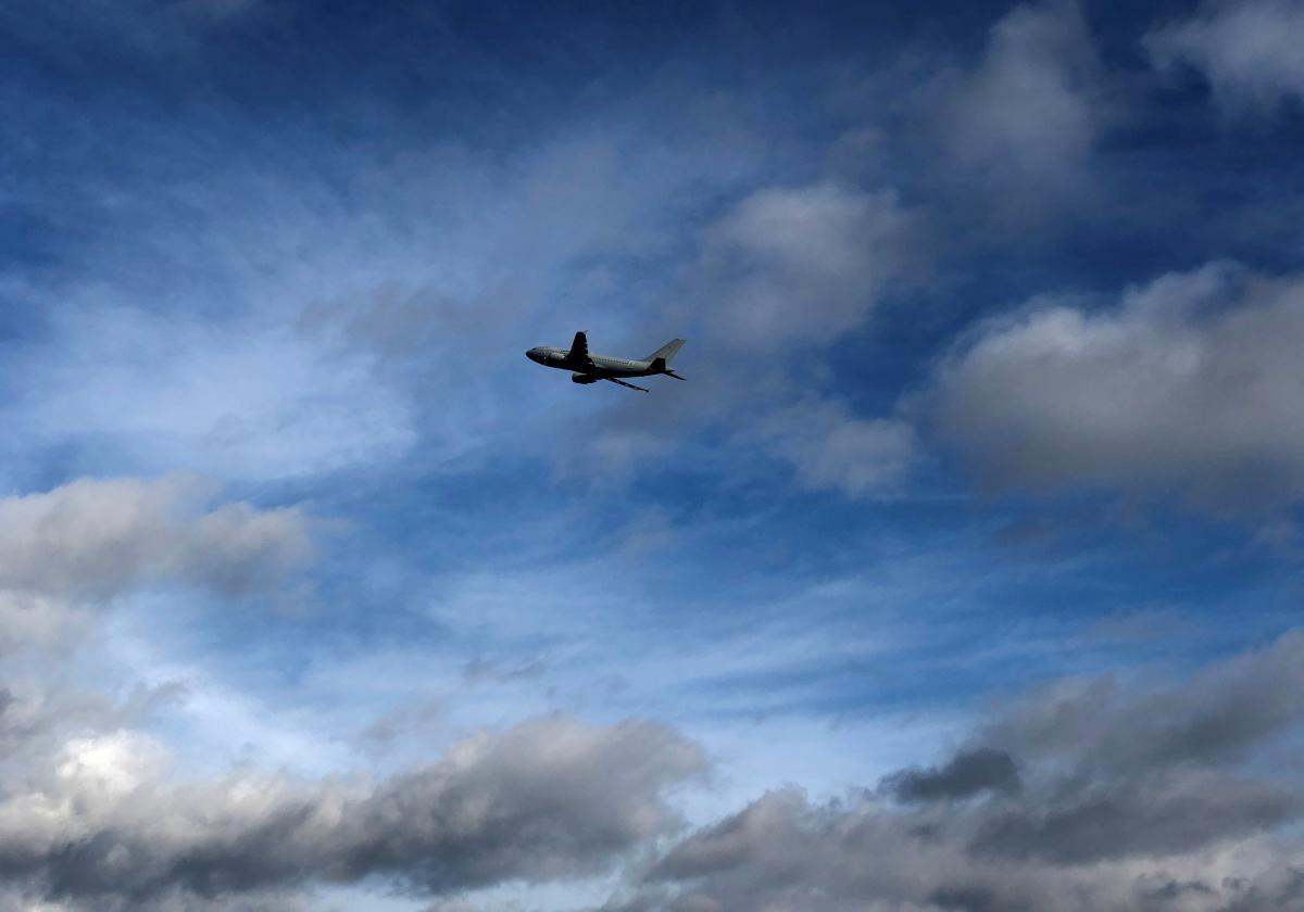 небо,самолет