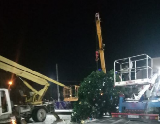 Перед Новым годом 2020 в Дунаевцах рухнула главная елка - Новости Украина