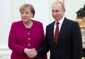 Меркель, Путин