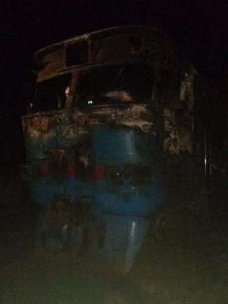 В Сумской области загорелся поезд