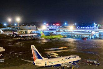 В Новосибирске у самолета загорелся двигатель / Интерфакс