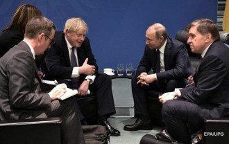 Джонсон и Путин в Берлине 19 января/Reuters