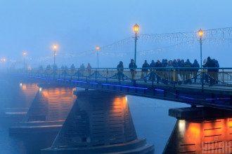 погода,туман,міст
