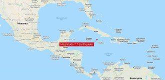 Эпицентр землетрясения находится в море/ Фото: The United States Geological Survey