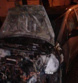 Сожженная машина / Facebook