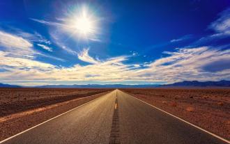дорога, небо, пустыня