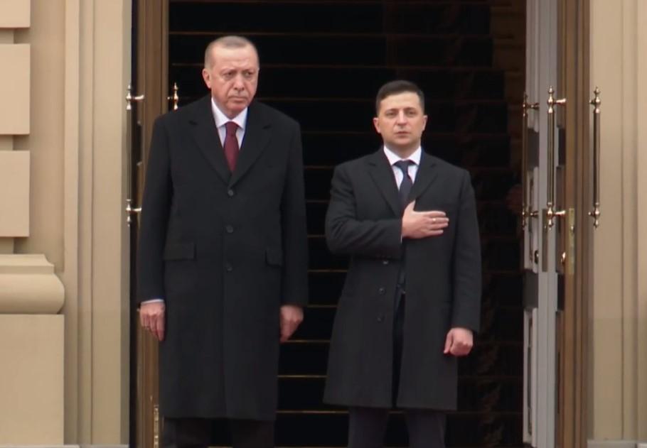 Реджеп Тайип Эрдоган и Владимир Зеленский