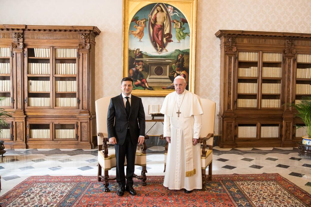Владимир Зеленский и папа Франциск